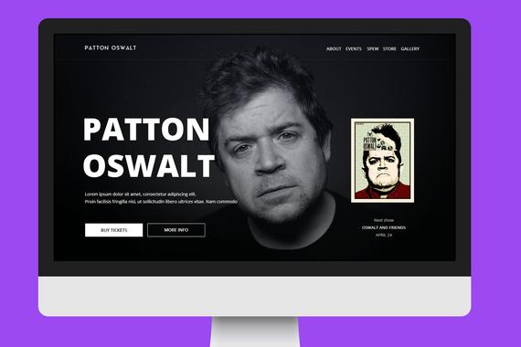 Patton Oswalt's Website Concept