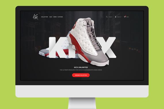 Kicx eCommerce Redesign