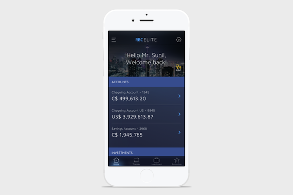 Banking App for High Investors