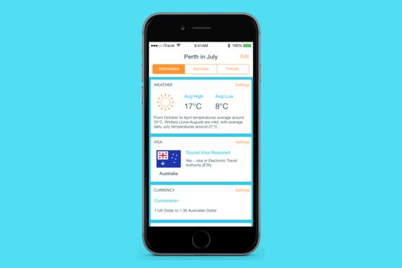 UI Design for Travel App concept