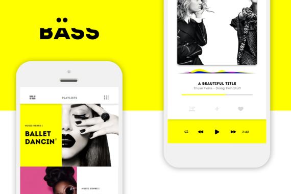 BÄSS | Music App Concept