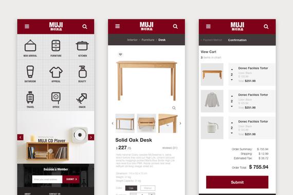 MUJI Website Redesign