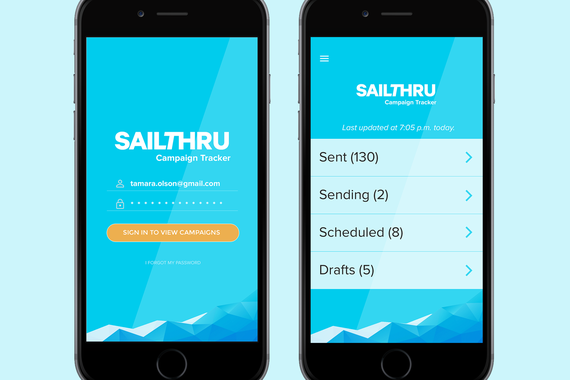 Sailthru Mobile Application UX and Design