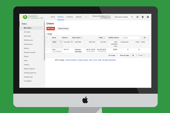 Doubleclick for Publishers (DFP) by Google UX