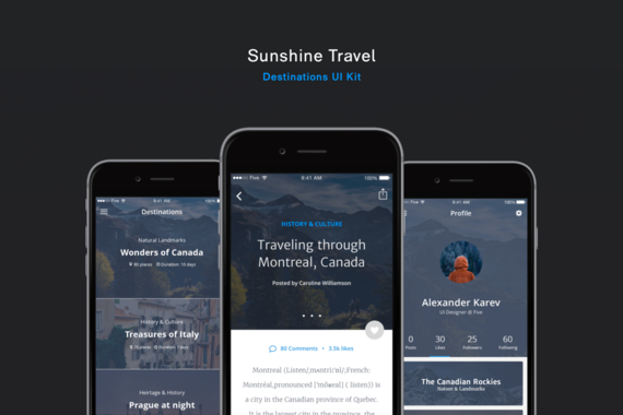Sunshine Travel UI Kit