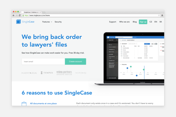 SingleCase Website