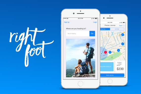 RightFoot - 2-Sided Travel Startup