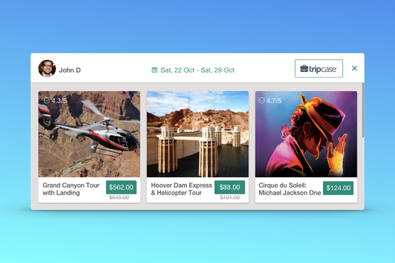 Moments - Travel Agent Widget