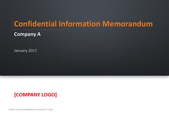 Confidential Information Memorandum of a Pump Manufacturer