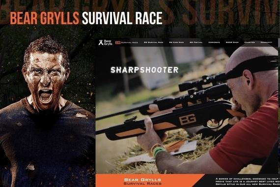 Bear Grylls Survival Race Web Design Project
