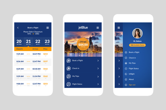 JetBlue Airlines |新应用设计C.S.