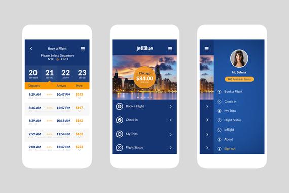 JetBlue Airlines | New App Design C.S.