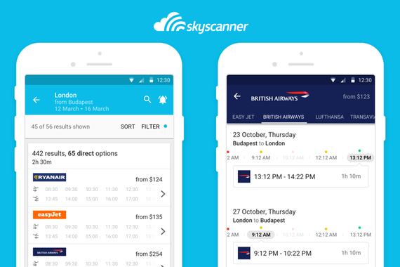 Skyscanner | Timetable View [Research, Development, Testing]