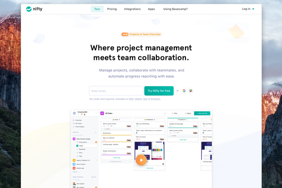 Nifty: Project Management