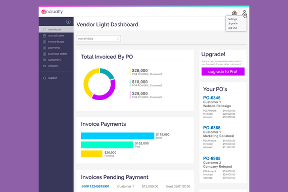 Accrualify Vendor Light Portal