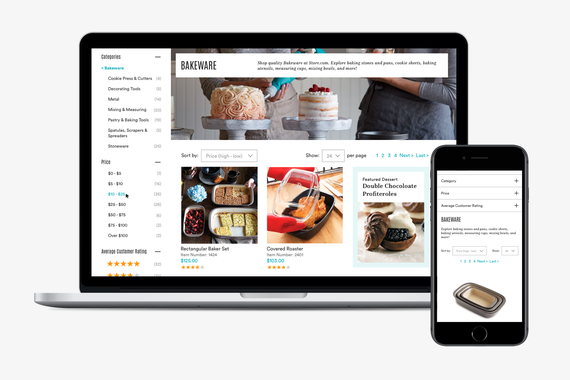 Responsive eCommerce Product Catalog UX/UI Design