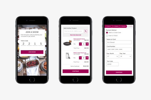 Shopping Party Mobile eCommerce Checkout