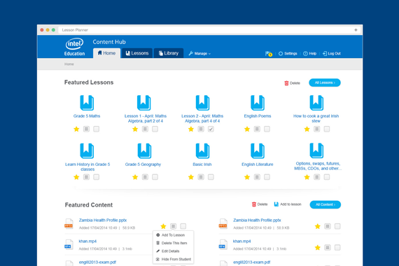 Intel Education Web Application