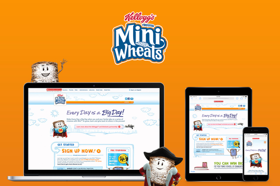 """Frosted Mini Wheats """"Everyday is a Big Day"""" Website & Email Templates"""