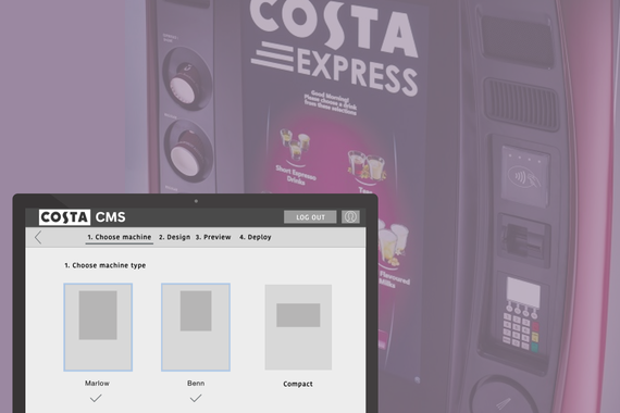 Coffee vending machine CMS