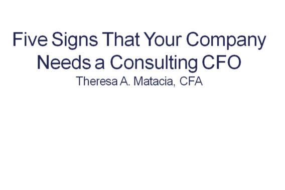Five Signs that your Company Needs a Consulting CFO