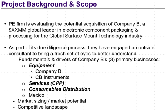 Transaction Due Diligence Report for Acquisition of Niche Manufacturer