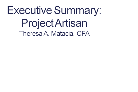 Executive Summary: Project Artisan