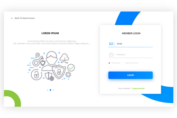 Login Form Design | Web and Mobile Login Concepts