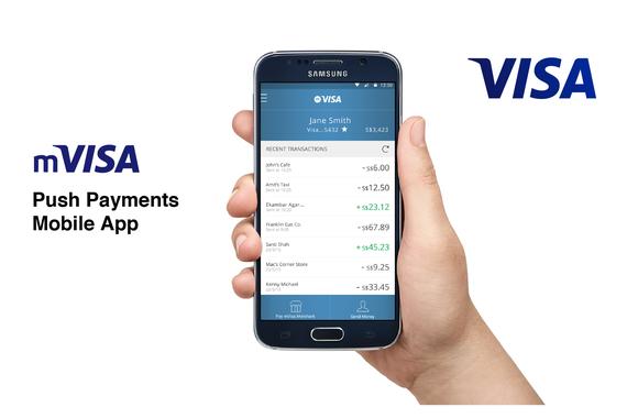 Product Design | mVISA Mobile Push Payments App