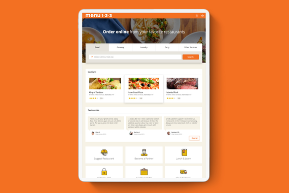 Menu123 – Food Ordering Platform
