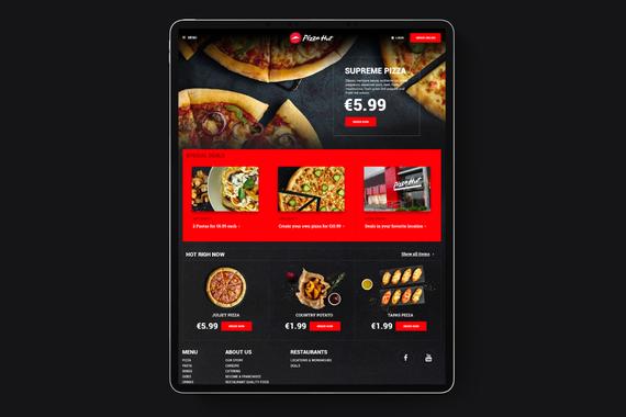 Pizza Hut Online Ordering Website