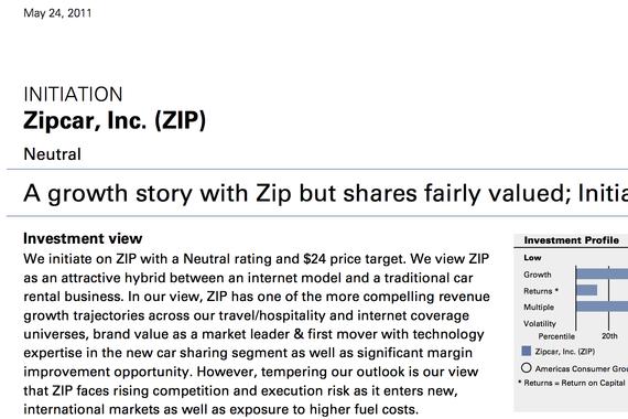 Zipcar起始