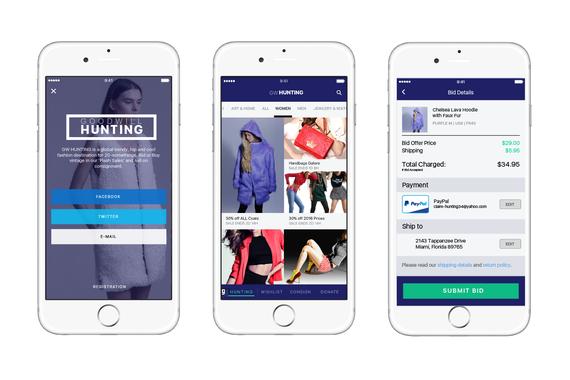 UX Design for Goodwill | Mobile Fashion App Design