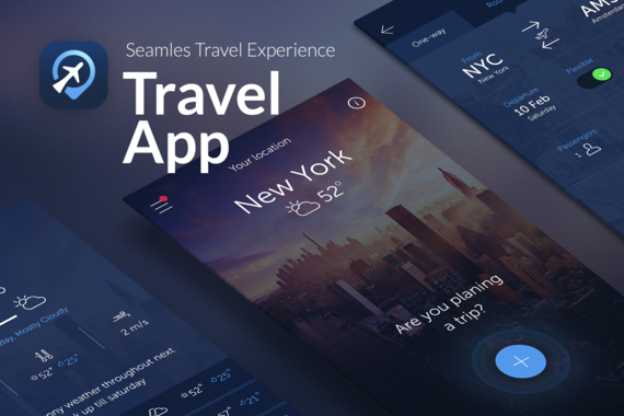 TravelMind | iOS App | InVision Prototype | Wireframing