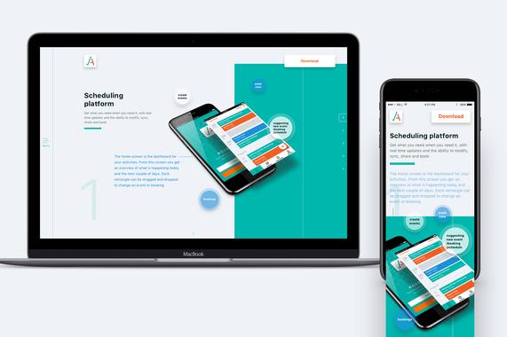 Agendo | Responsive Website and Booking Widget UX/UI Design