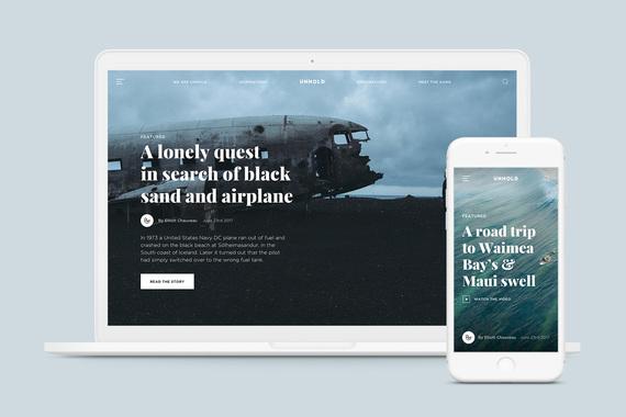 Unhold Magazine - Responsive UI Template