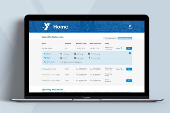YMCA | Assembly Registration Portal