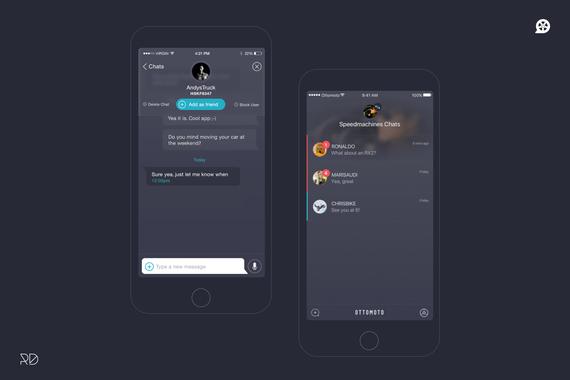 iOS Social Media App UX and UI design