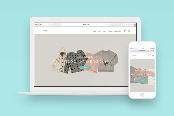 Branding and Responsive Website for a Baby Clothing Store