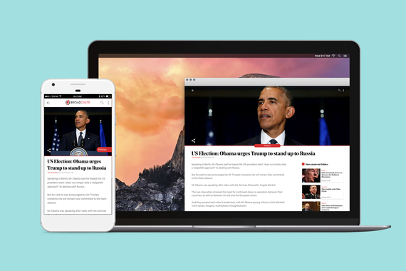 Broadcaster Desktop and Mobile News App