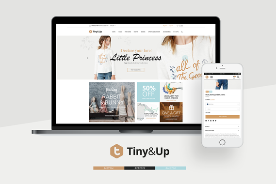 Tiny & Up | eCommerce | Branding | RWD