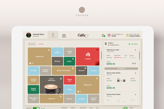 Coffee Point-of-Sale Design