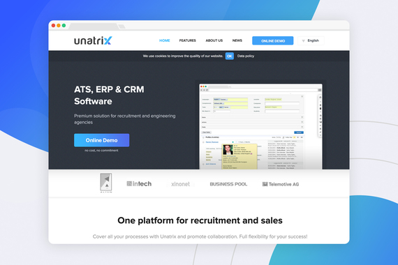 Unatrix | CRM Website Redesign