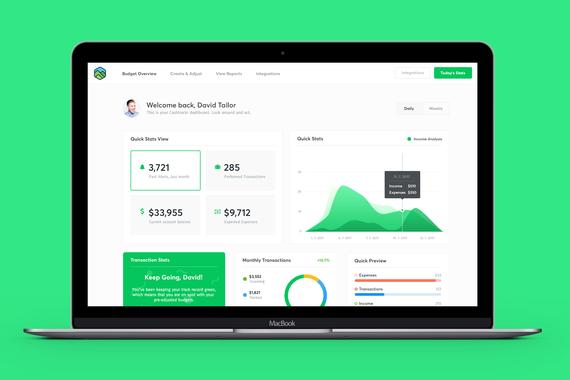 Cashtrackr - Dashboard Application