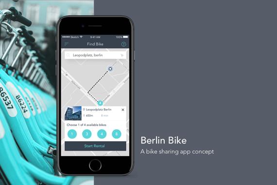 Bike Sharing App Concept