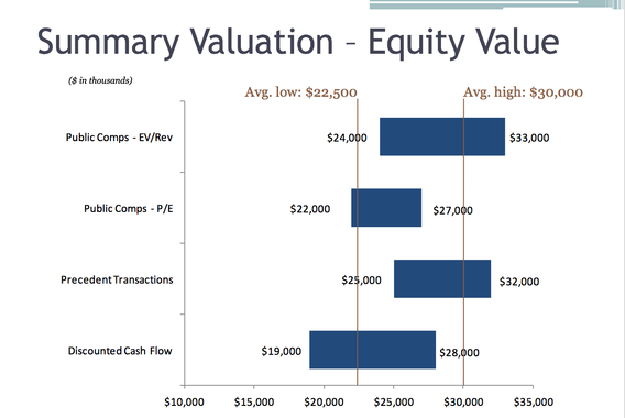 Capital Raise Valuation for Holding Company