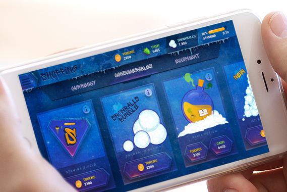 Snowboard Game UI
