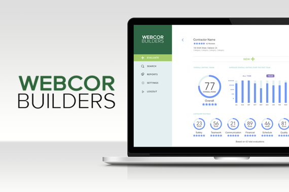 Webcor Builders Contractor Evaluation Web and Mobile App