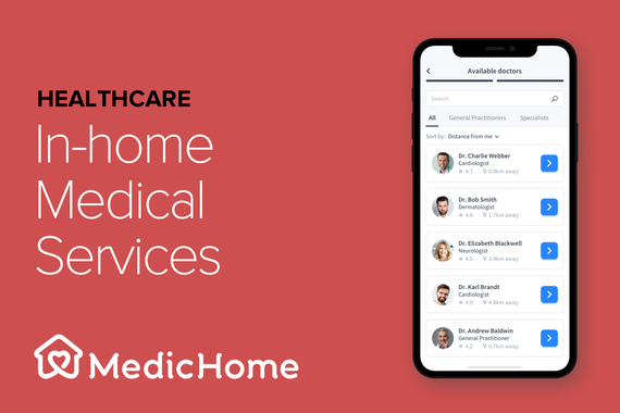 B2C In-home Medical Services | Mobile UX and UI