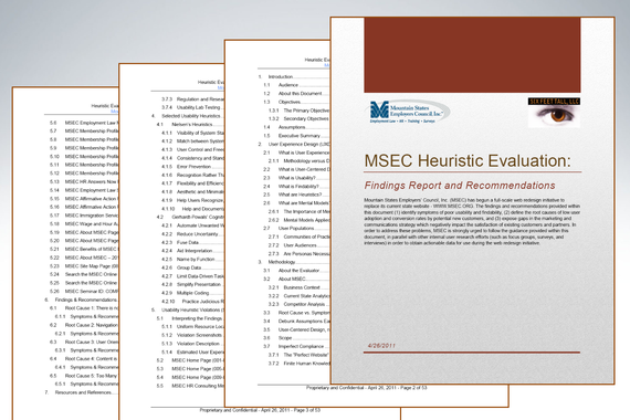Heuristic Evaluation and Executive Onsite Workshop